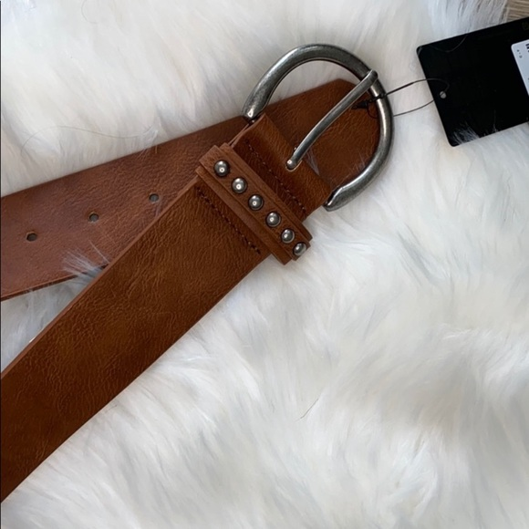 Accessories - Brown Studded Belt